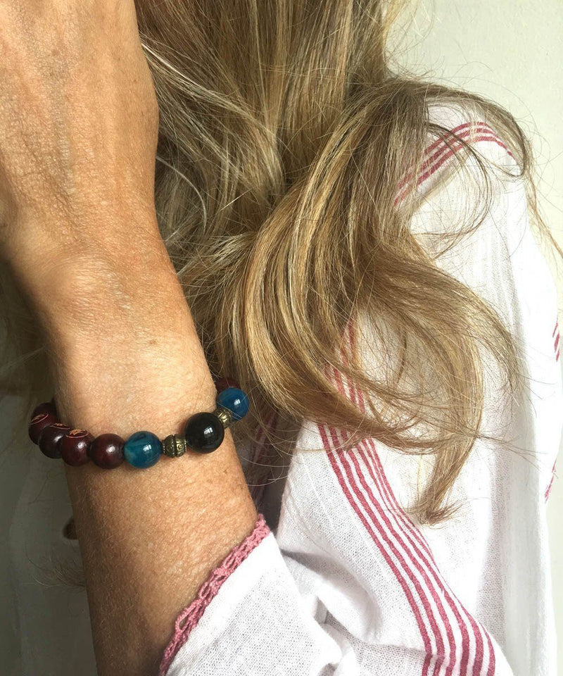 jewels-of-mala bracelet-mala-Tibetan-agate-blue onyx