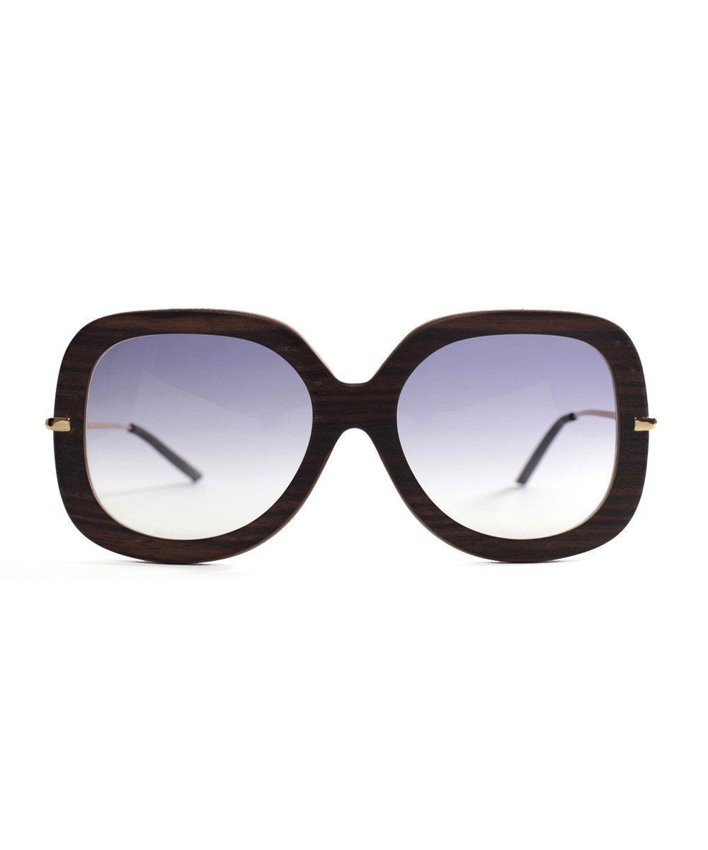 Exotic dark wood sunglasses recycled - IWood