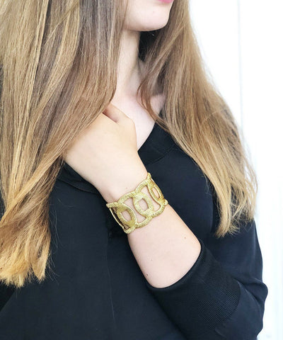 Boks & baum cuff-adjustable-golden bracelet