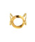 Gold metal ring bracelet carole saint germs of face