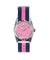 Oxygen Sport Flamingo 34 watch pink striped navy strap - oxygen watch