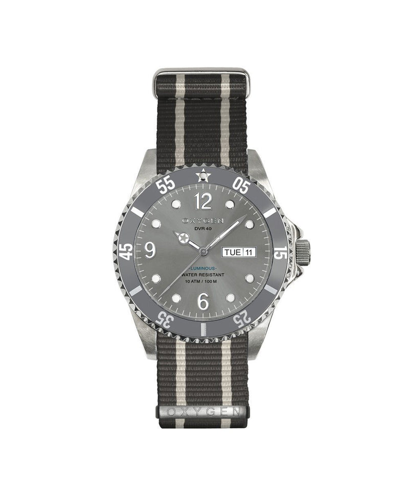 Diver Elephant 40 Watch - Gray / Ivory / Gray - oxygen watch