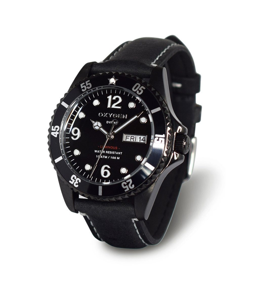 Moby Dick Black 40 Exchange Diver Watch - oxygen watch