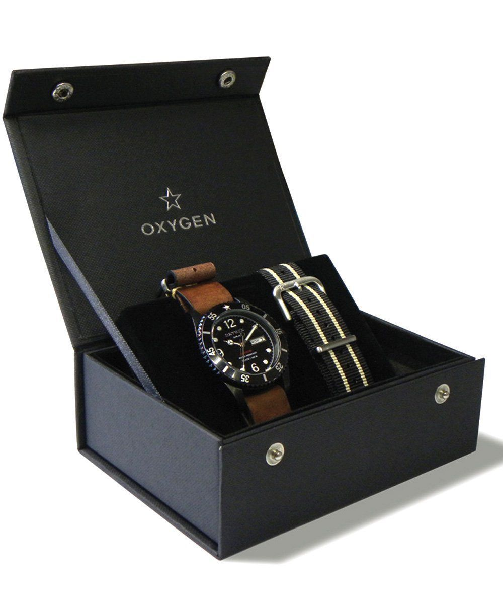 Coffret cadeau Montre Moby Dick Black 40 2 bracelets - oxygen watch