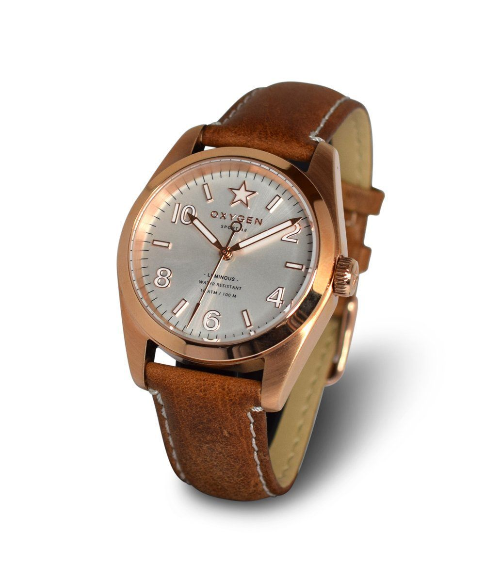 EXCHANGE Nugget 38 watch leather - oxygen watch
