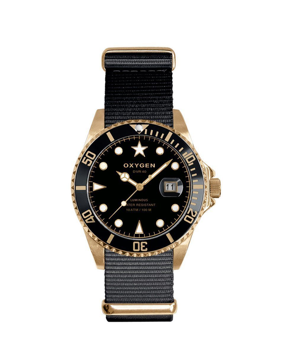Gold Mine 36 Exchange Diver Watch nato nylon - oxygen watch