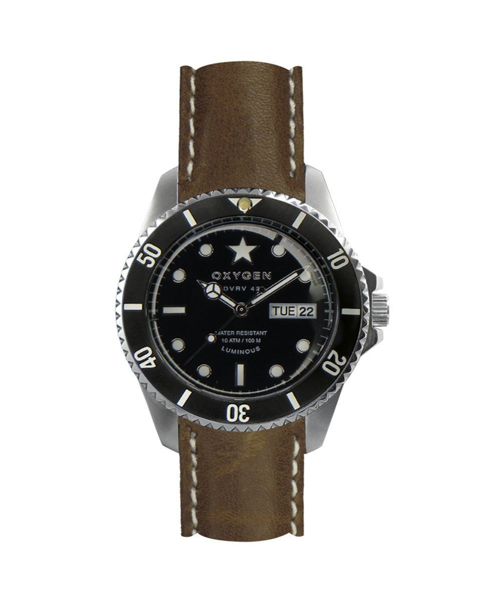 Cigar 42 Classic Brown Leather Bracelet Watch - Oxygen Legend