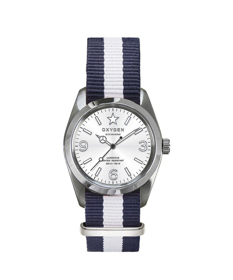 Oxygen Exchange Sport watch Paris 38 striped strap - oxygen watch