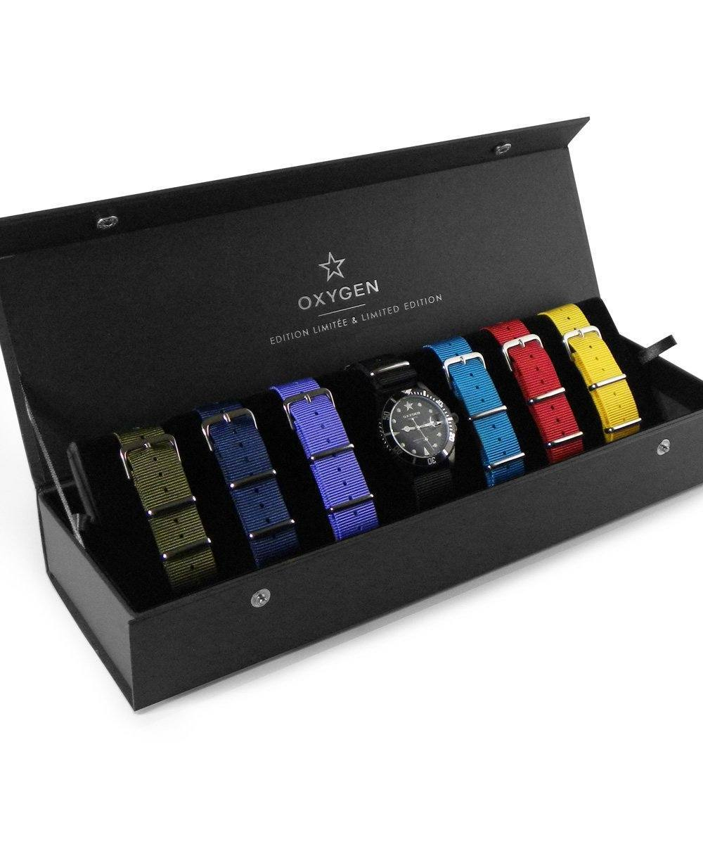 Coffret cadeau Montre Exchange Diver MBB 40 7 bracelets - oxygen watch