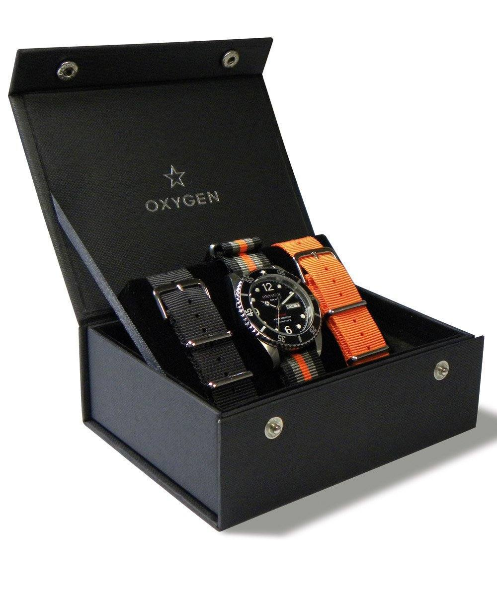 box-oxygen-watch-strap interchangeable-orange-black-tri-orange-khaki-Black Dial-noir.jpg