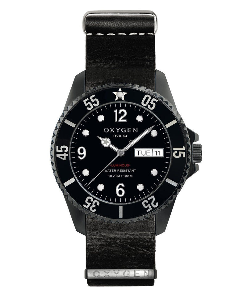 show oxygen-watch-strap leather-Black Dial-Black Needle-argent.jpg