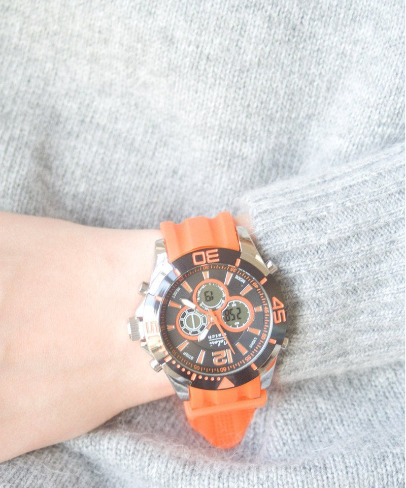 montre-chrono-sport-orange Editions LESSisRARE Bijoux