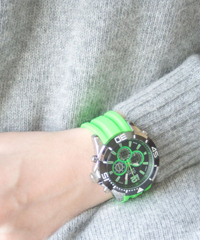 watch-sillicone-green-chrono-sport Editions LESSisRARE Jewelery scope