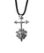 Pendant The sacred cross in silver and sapphires - Catherine Michiels