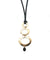 Necklace pendant 3 golden wishes with pearl - Carole Saint Germes