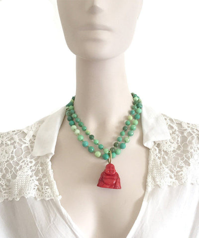 france-thierard-necklace-opal-green-buddha-coral worn 1