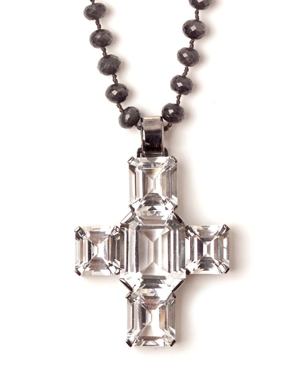 Palazzo cross pendant in rock crystal - France Thierard