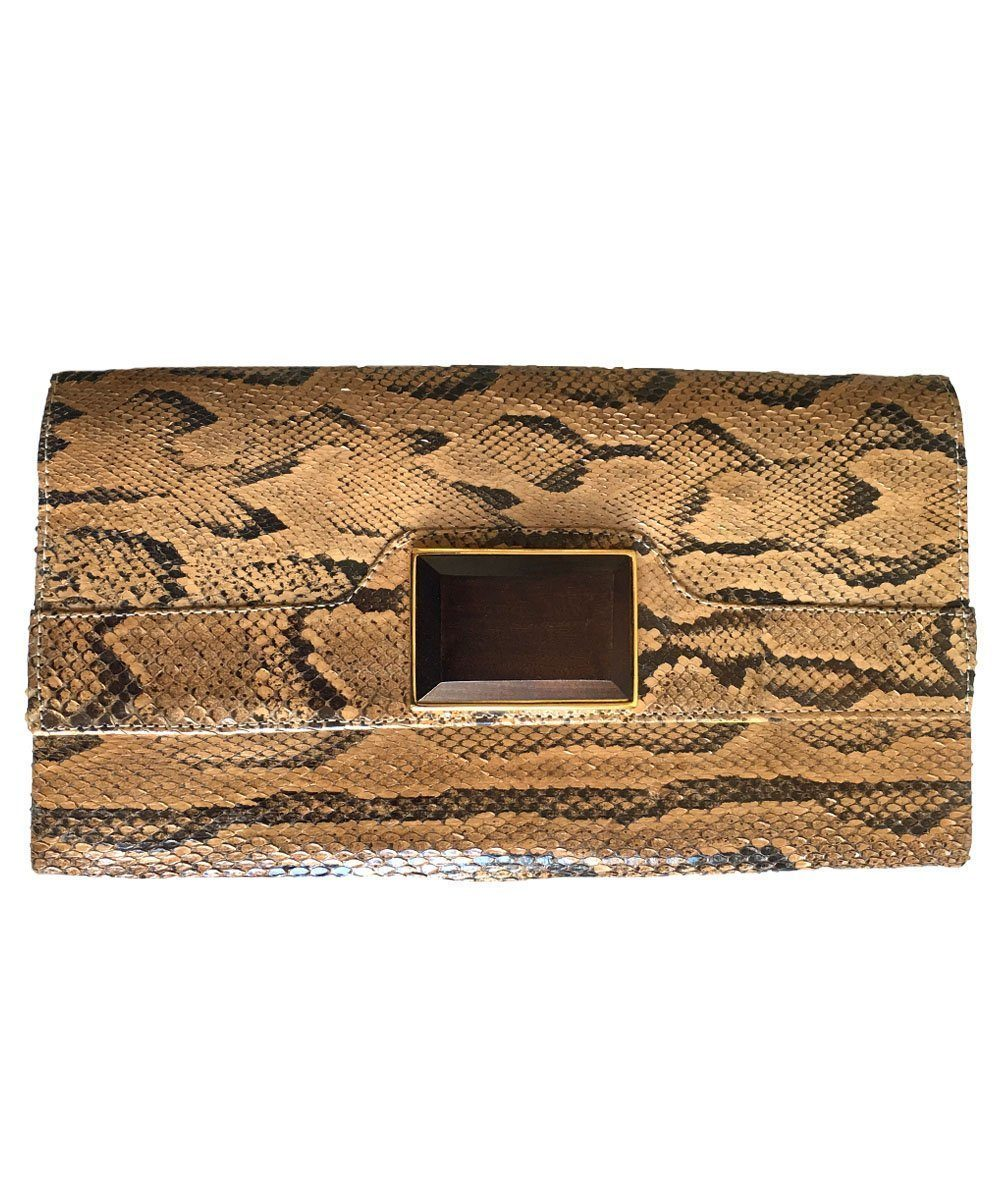 pouch-python-beige-rectangular Editions LESSisRARE