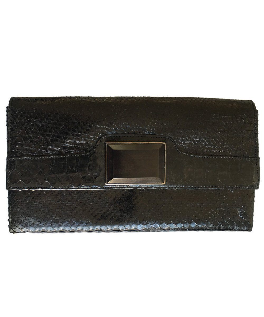 Black python clutch - Editions LESSisRARE