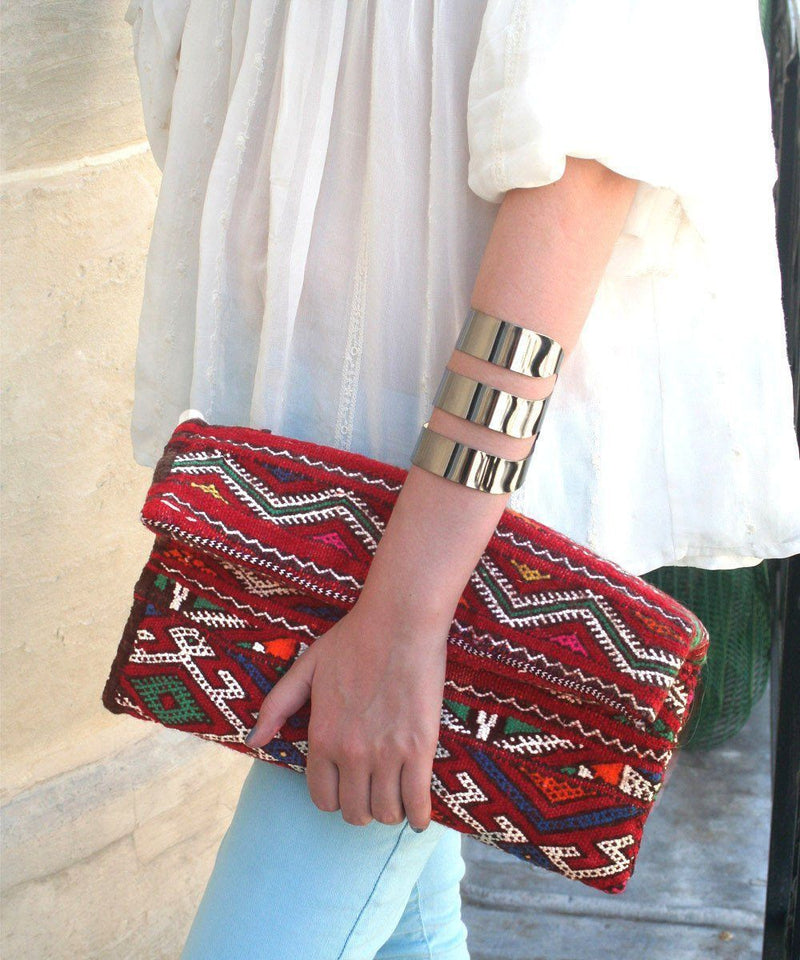 Kilim Pouch - Waves - El Jenna Editions LESSisRARE