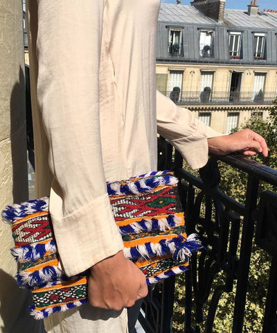 pouch-kilim-blue-lit Editions LESSisRARE