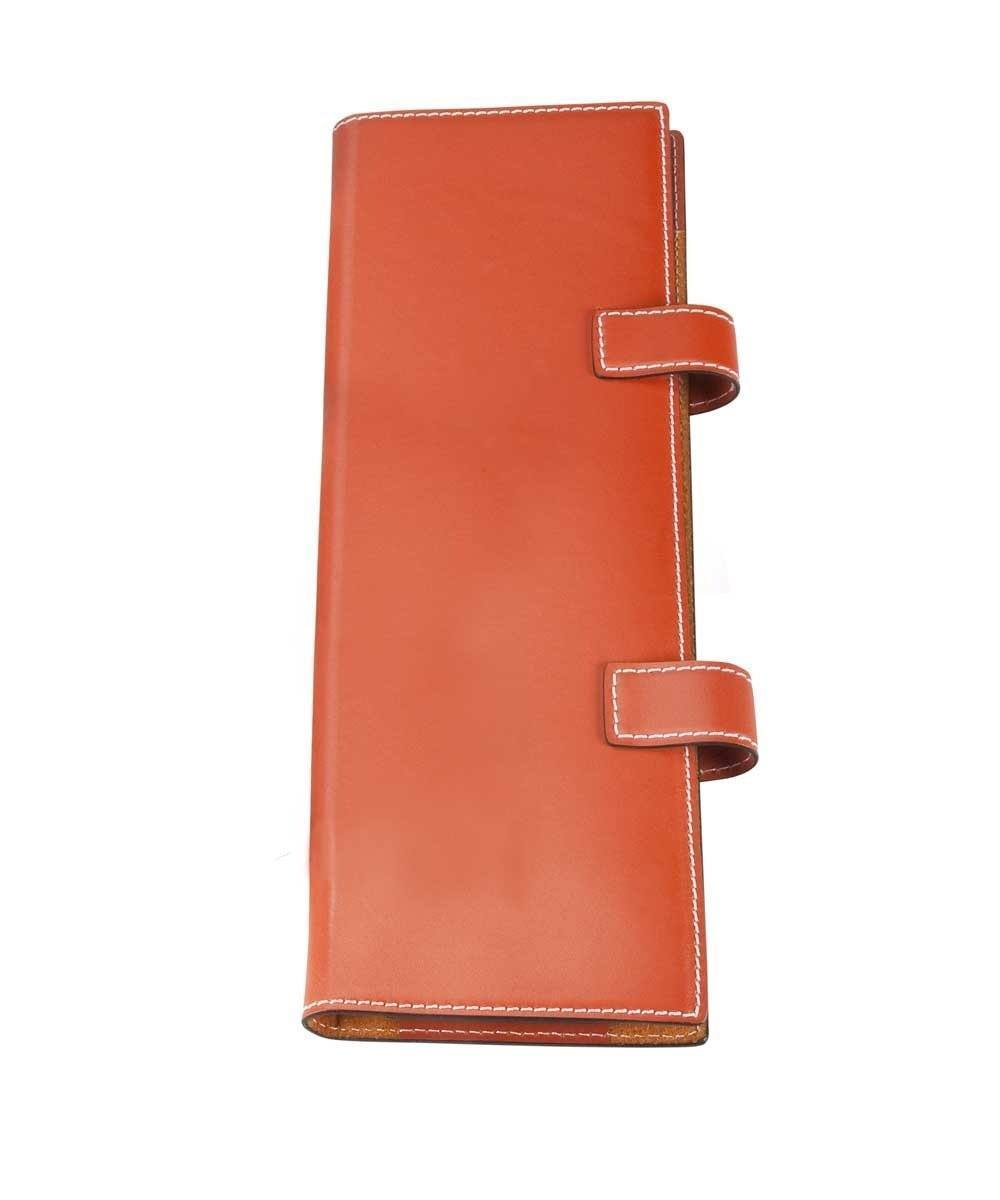porte cravate Bhome orange cuir
