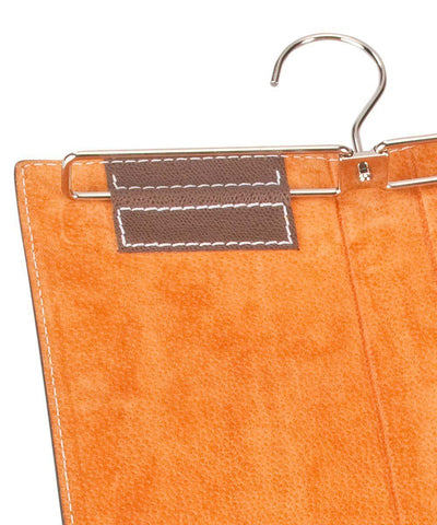 porte cravate Bhome orange cuir interieur