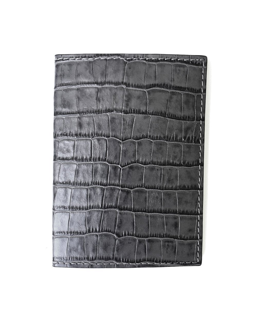 gray passport holder
