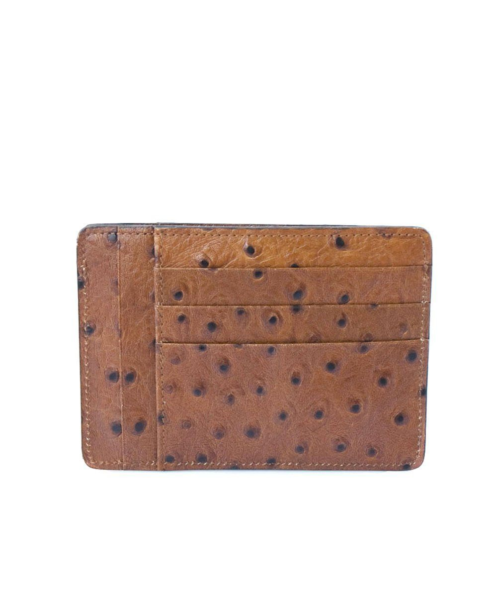 Card holder in ostrich print calfskin - Bhome