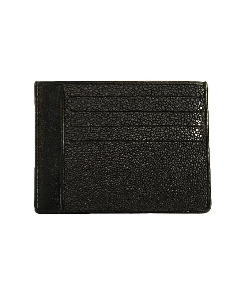 Black shagreen card holder - Large size - Galuchat Gallery