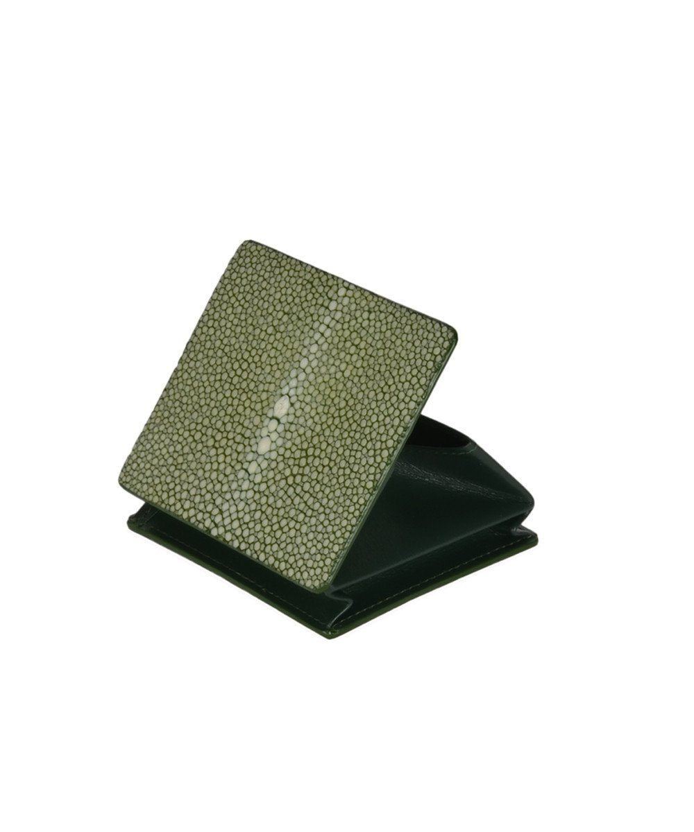 gallery-stingray wallet-en-green shagreen-a-your-initials
