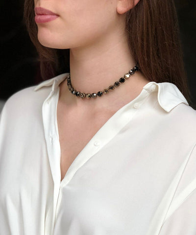 vogline-crystal-necklace-Swarovski-black-worn