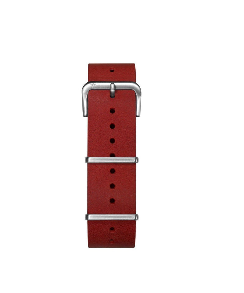 22 mm red interchangeable Nato leather strap - oxygen watch
