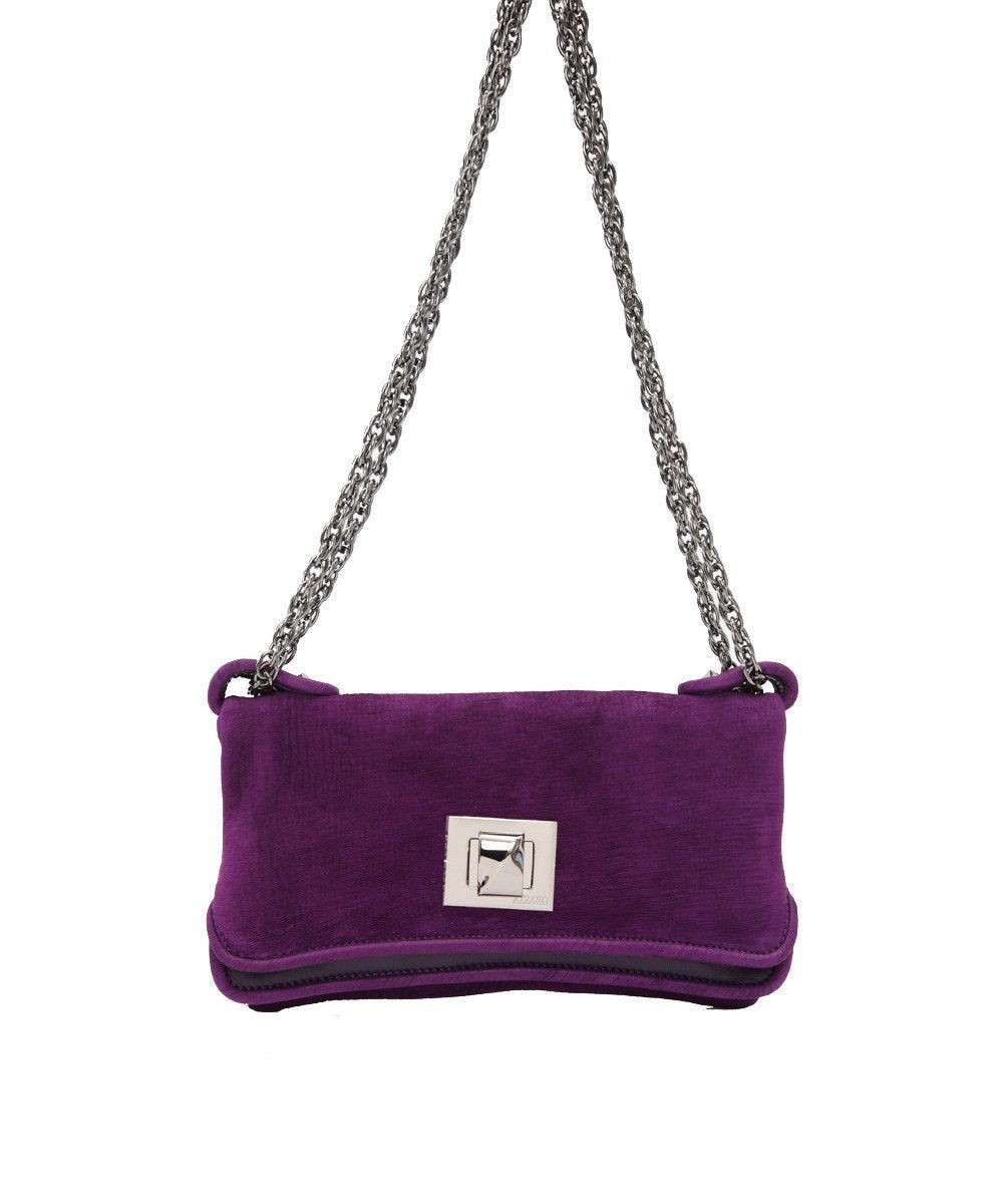 Azzaro wallet-bag-Hangzou-in-velvet-purple