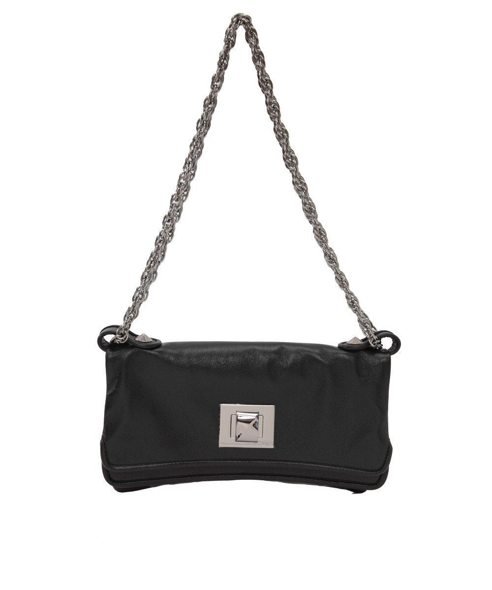 Black leather clutch bag - Azzaro