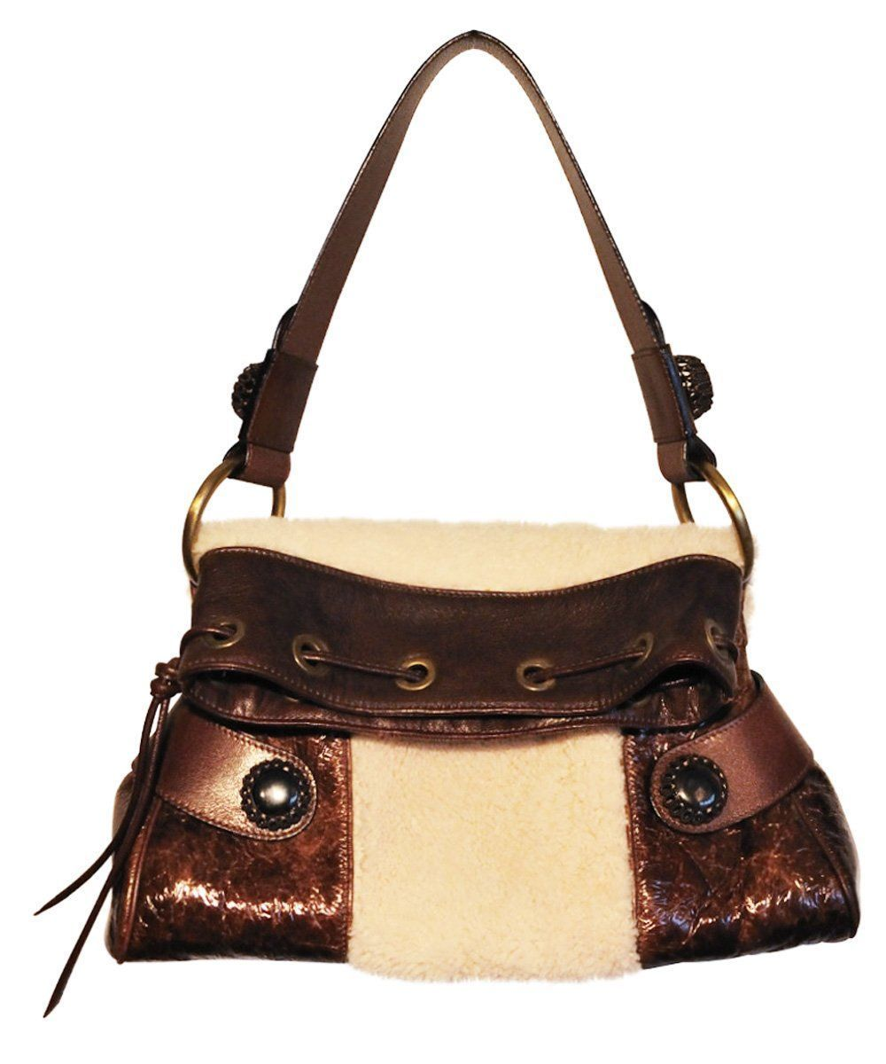 Leather bag and sheepskin - Editions LESSisRARE