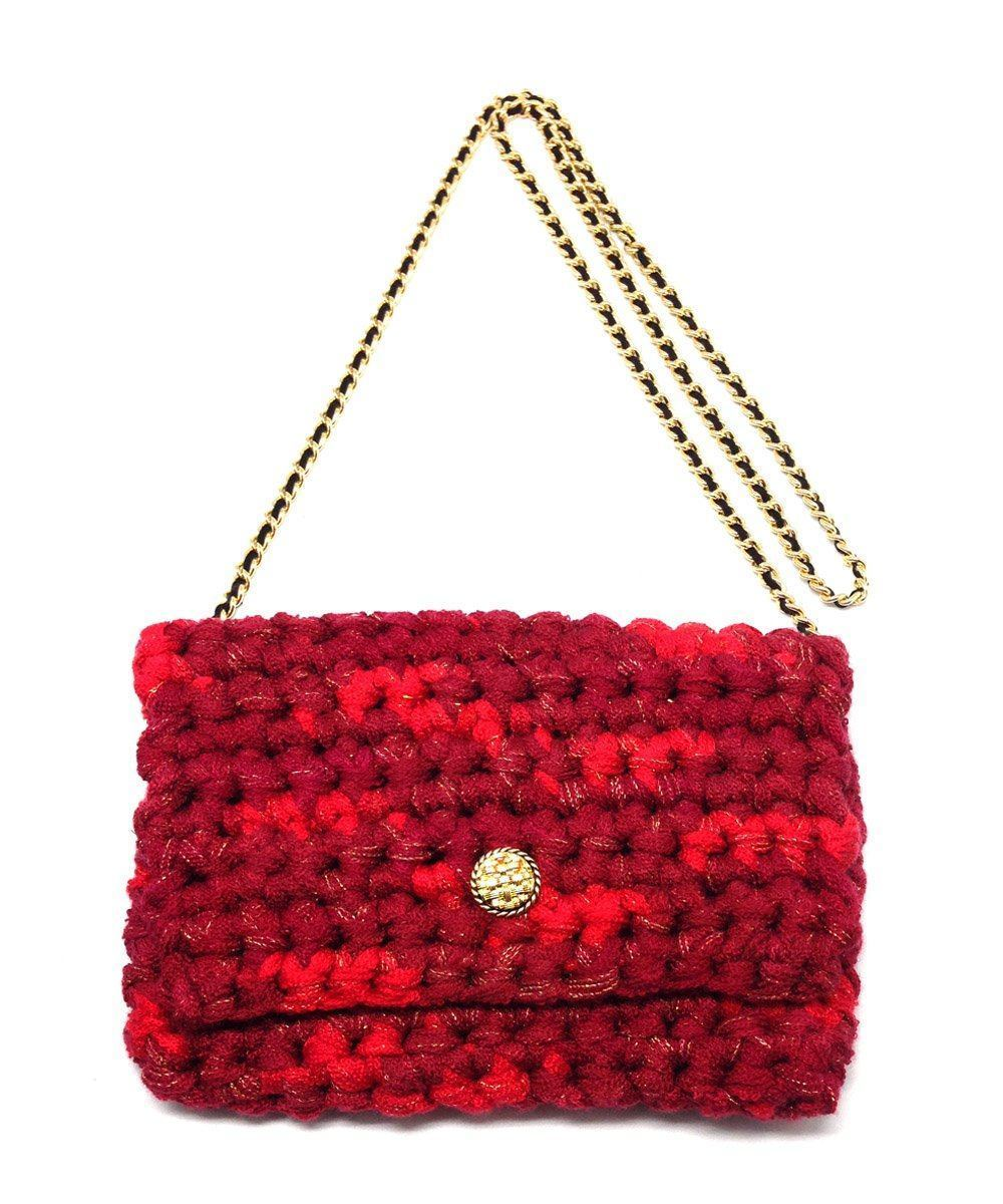 marieta-cox-sac-crochet-m-classical-chaine-dore-rouge-chine