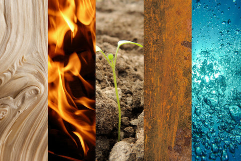 Five Elements Air Fire Earth Water Wood