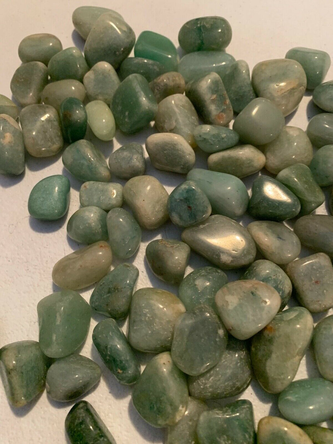 1/2 lb bulk Green Aventurine crystal Polished Tumbled Stone wholesale