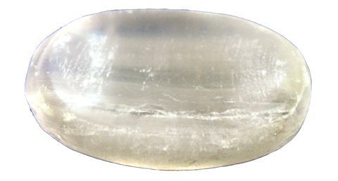 Moroccan Selenite Palm Stone Worry Stone 3