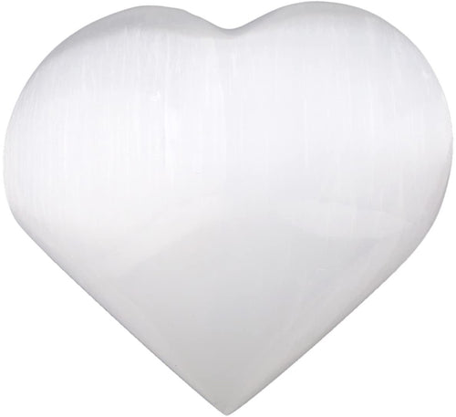 Natural Selenite Heart Pocket Stone,Healing Palm Crystal