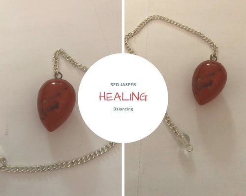 Red Jasper Polished Pendulum (India)