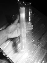 Selenite Stick 6 to 8.5 Inches long, 1 to 2 inches wide, white healing stone, strong protection powers