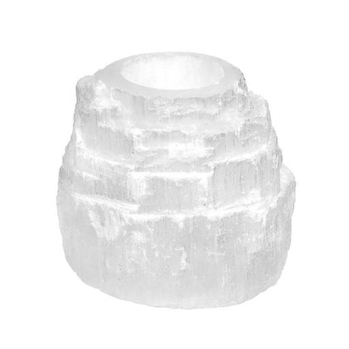 Selenite Mountain Tealight Candle Holder