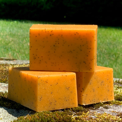 Mango Grapefruit Solid Sugar Bar Scrub - All Natural Handmade Vegan with Avocado Oil