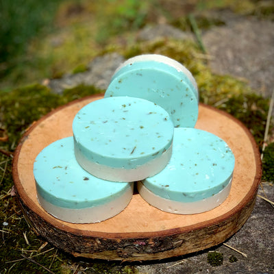Face the World - All Natural Handmade Soap with Seaweed, Shea Butter and Pumice Layer