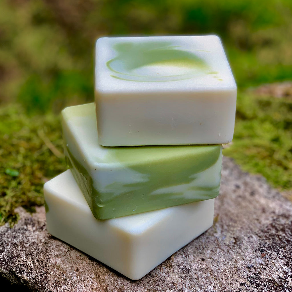 Green Tea and White Pear Handcrafted Soap with Aloe and Kaolin Clay