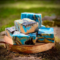 Lavender Cedarwood Handcrafted Soap with Aloe and Activated Charcoal