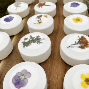 Wildflowers All Natural Handmade Bath Fizzie with Shea And Cocoa Butter
