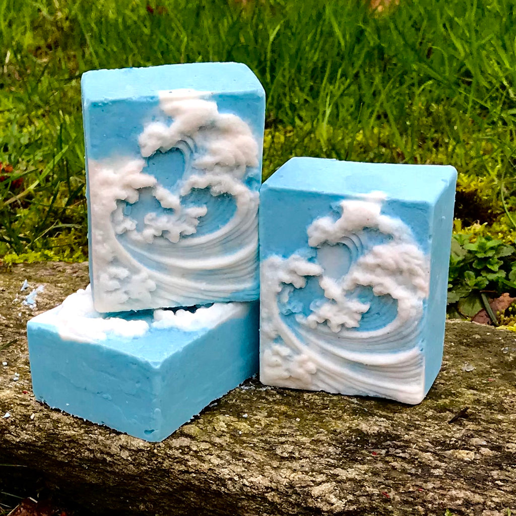 Peppermint Wave Sea Salt Detox Soap with Aloe Vera, Kaolin Clay and Peppermint Essential Oil - Spa Bar
